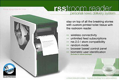 Papel higiénico que imprime noticias en tiempo real