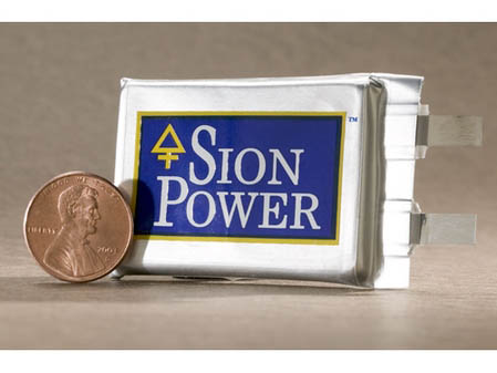 sion power lithium-sulfur