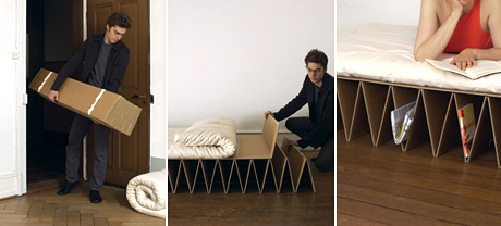 itbed Cardboard Futon (Image courtesy it design)