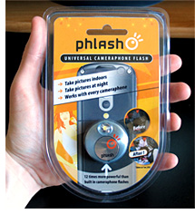 Phlash - Universal Cameraphone Flash (Image property of OhGizmo)