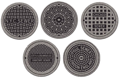 Sewer Cover Throw Rugs (Image courtesy Perpetual Kid)