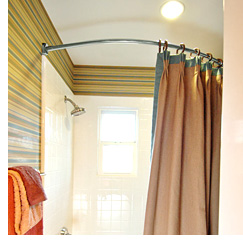Smarthome Curved Shower Curtain Rod | OhGizmo!