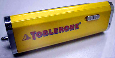 toblerone mp3 player