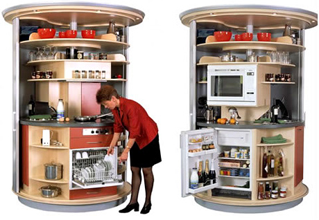 Circular Kitchen (Image courtesy Neatorama)