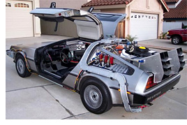 Back To The Future DeLorean (Image courtesy eBay Motors)