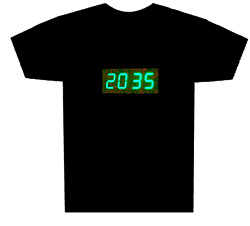 Digital Clock T-Shirt (Image courtesy Latest Buy)