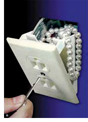 Wall Outlet Mini Safe (Image courtesy Boomer Gadgets)