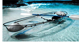 Transparent Canoe-Kayak Hybrid (Image courtesy Hammacher Schlemmer)
