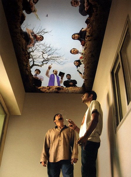 anti smoking ceiling painting