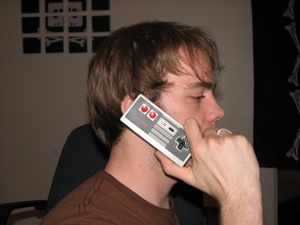 nes controller cellphone mod