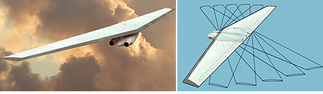 Supersonic Shape-Shifting Bomber (Image courtesy Popular Science)