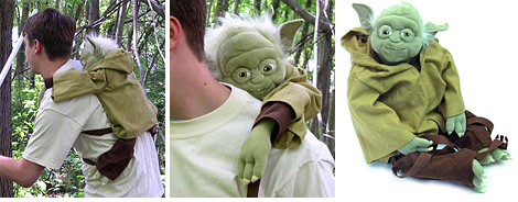 Plush Yoda Backpack (Images courtesy ThinkGeek)
