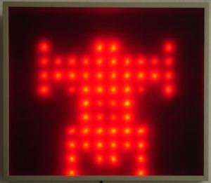 akiko Sakaizumi LED art piece