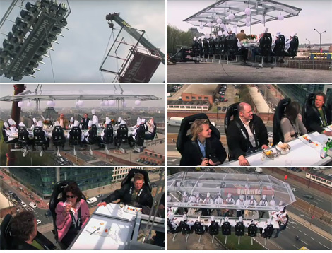 Dinner In The Sky (Image courtesy DinnerInTheSky.com)