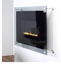 Vertigo Wall-Mounted Fireplace (Image courtesy West Country Fires)