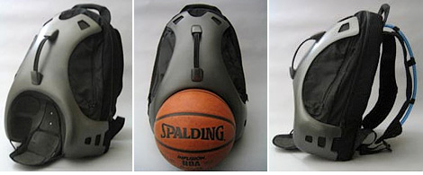 Urban Basketball Backpack (Images courtesy Yanko Design)