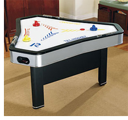 Three-Player Air Hockey (Image courtesy Brookstone)
