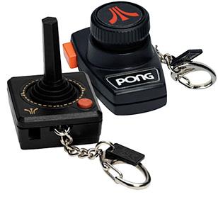 Atari Plug 'n Play Keychains (Image courtesy FredFlare)
