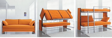 Doc Sofa Bunk Bed (Images courtesy BonBon Trading)