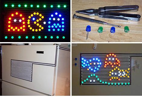 Magnetic Fridge Lights (Image courtesy Instructables)