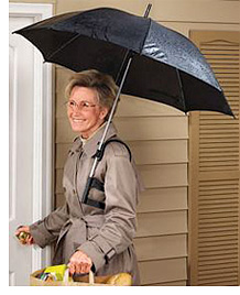 Hands-Free Umbrella (Image courtesy Miles Kimball)