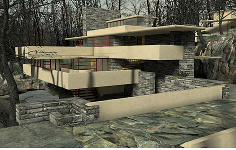 Frank lloyd wright s fallingwater in half life 2 ohgizmo for Half life 2 architecture