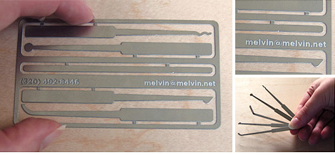 Lockpick Business Card (Images courtesy Jeni Mattson)