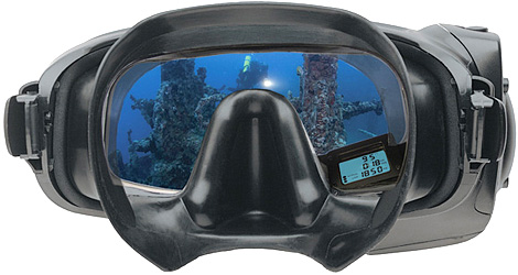 Oceanic SCUBA Mask with HUD (Image courtesy Oceanic Worldwide)