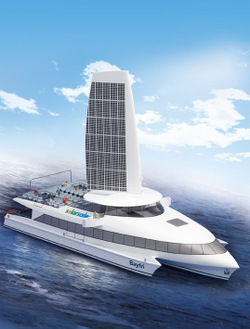 solar powered trimaran ferry