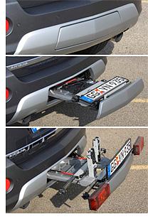 FlexFix Integrated Bike Rack (Image courtesy Autoblog)