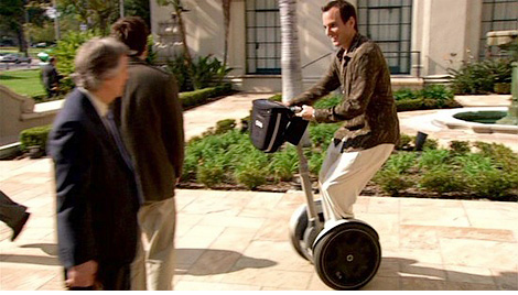 Gob's Segway (Image courtesy Fox)