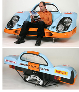 Porsche 917 Sofa (Image courtesy Inspired Design)