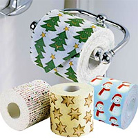 Holiday Themed Toilet Paper (Image courtesy Solutions)