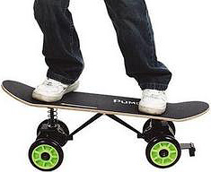 Push-Free Skateboard (Image courtesy Hammacher Schlemmer)