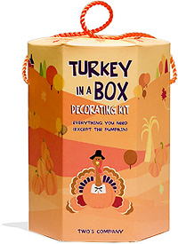 Turkey In A Box Decorating Kit (Image courtesy PlumParty)