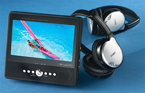 Portable DVD Player With Wireless Headphones (Image courtesy Hammacher Schlemmer)