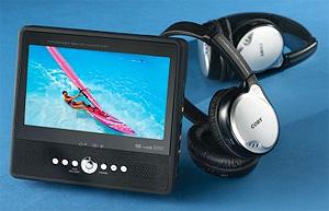Portable DVD Player With Wireless Headphones (Image courtesy Hammacher Schlemmer)