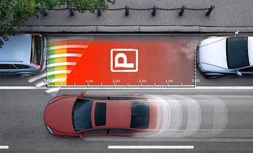Bosch Parking Space Measurement System (Image courtesy Gizmag)