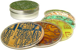 Circuitboard Coasters (Image courtesy ThinkGeek)
