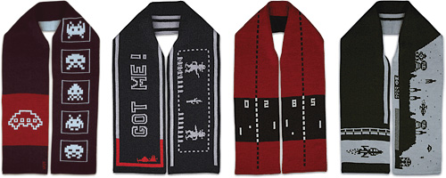 Classic Gaming Themed Scarves (Images courtesy b2d4)