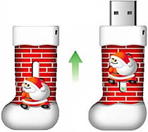 Stocking Shaped Flash Drive (Image courtesy Vafor Tech)
