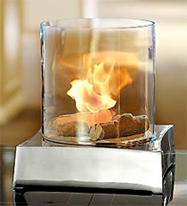 Tabletop GlassFire Smokeless Fireplace (Image courtesy Frontgate)