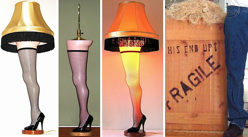 A Christmas Story Leg Lamp (Images courtesy Leg-Lamp.com)