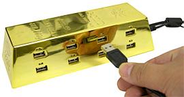 Thanko Gold Ingot USB Hub (Image courtesy AudioCubes)