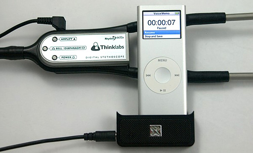 Thinklabs iPod Nano Stethoscope Recording Kit (Image courtesy Thinklabs)
