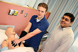 CPR Glove Inventors Corey Centen and Nilesh Patel (Image courtesy McMaster Daily News)
