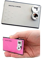 Credit Card Digital Camera (Images courtesy Crazy About Gadgets)