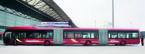 China' 82-Foot Commuter Bus (Image courtesy BackChina)