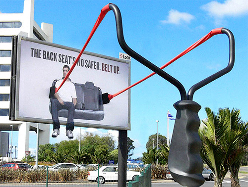 Belt Up Billboard (Image courtesy CARSCOOP)