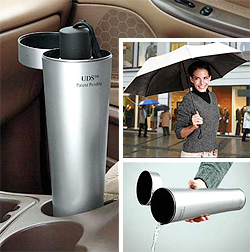 Car Umbrella Drainer (Image courtesy Get Organized)